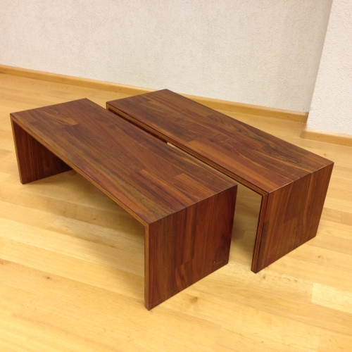 Houten Kubus Bijzettafel.Houten Blok Bijzettafel Trendy Salontafel In Een Modern Design With
